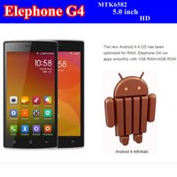 g4 cell phone - 2014 Hot Sale Elephone G4 cell phone MTK6582 Quad Core Mobile Phone GB RAM GB ROM Dual Camera quot HD IPS GPS phone