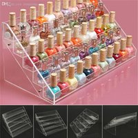 acrylic cosmetic display - Tiers Acrylic Clear Rack Display Stand Nail Polish Makeup Cosmetic Organizer