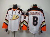 ducks - 2014 Newest Ducks Teemu Selanne Jerseys White Hockey Jerseys Brand Athletic Outdoor Apparel New Style Hockey Wears Mens Sports Uniforms