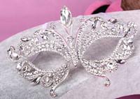 Rhinestone rhinestone mask - 2015 Hot Crystal Rhinestone Wedding Party Masks Half Face Masks Halloween Christmas Ball Film Photo Masquerade Mask Eye Blinder Patch