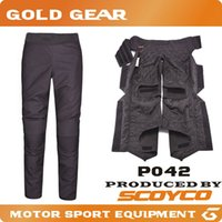 Wholesale 2016 Scoyco P042 Motorcycle motorbike open seat Pants Removeable Inner Warm Winter Windproof Protective Trousers pantalon moto