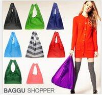 japan - Shopping bag New Candy color Japan Baggu Reusable Eco Friendly Shopping Tote Bag pouch Environment Safe Go Green
