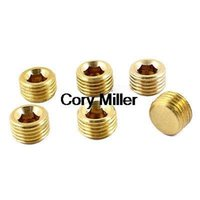 air fittings brass - Air Pipe Fittings quot PT Male Thread Hex Socket Brass Plugs Caps order lt no track