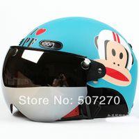 b w motorcycle - B Taiwan quot EVO quot New ABS Scooter Casco Half Face Motorcycle quot Monkey quot Matt Blue Helmet amp UV quot W