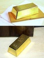 Wholesale Bright metallic gold finish Gold Bullion Door Stop Heavyweight KG Bar Doorstop Gold Bullion Replica Bar paperweight doorstop