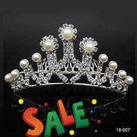 best headbands hair - Best Crystal Peals Rhinestone Tiaras Hair Accessories Wedding Headbands Crowns Bridal Jewelry for Party Evening Prom In Stock