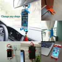 2015 nuevos accesorios del teléfono del coche creativo herramientas aparatos celular del silicón del sostenedor del soporte del teléfono móvil del envío gratis