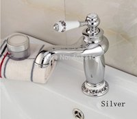 Wholesale New arrival Bathroom Faucet ceramic Chrome Plated Brass Basin Sink Faucet Single Handle water mixer taps