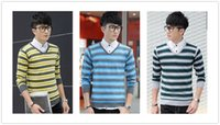 Wholesale Men cashmere sweaters Christmas pullover Mens Sweaters Long Sleeve Knitted Pullovers And Sweaters For Men boys striped sweaters D1901