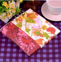 Wholesale 330MMX330Mm tissue paper napkin paper printing handkerchiefs for wedding cafe tissues Decorative vines