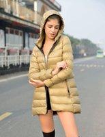 Wholesale 2015 Women Winter Coat Parka Long Duck Down Jacket Hood Korean Feather Cotton Coat Warm Down Overcoat Brand Ladies Winter Clothing