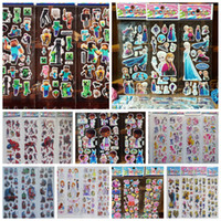 Wholesale 2016 theme Cartoon Puffy stickers toys Frozen patrol dog the Avengers superman sesame street minions childrens wall stickers home deco