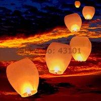 lantern paper - Hot White Chinese Fire Flying Sky Paper Kongming Floating Wishing Lantern Wedding