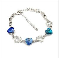 affinity diamond jewelry - Fashion jewelry version of the new spring and summer colorful full diamond crystal bracelet have mutual affinity heart beautiful creati