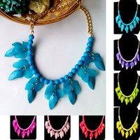 twisted pearl necklace - Fashion Multicolor Flowers Brilliant Statement Necklace Women Necklaces Pendants Summer Style Jewelry Collar Colar For Gift
