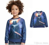Wholesale Star Wars Kids Fleece Darth Vader with Lightsaber auturm winter Star Wars Clothes for Children Gifts