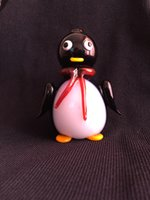 big penguin - 2015Black glass big pipe smoking pipe glass tobacco pipe Penguin glass mix colors mm length multi swirl twisted colored Glass pipes glass