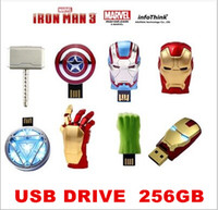 Wholesale Iron Man3 hand Energy ring series gb USB Flash drive Memory drive Stick Pen ThumbCar USB disk