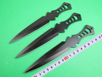 Wholesale 3pcs set black LA01 Throw knife wih nylon sheath