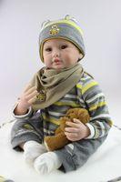 babydoll body - High Quality Simulation Babydoll Imported Mohair Doll Silicone Vinyl Toys Soft Cotton Body Children Birthday Present