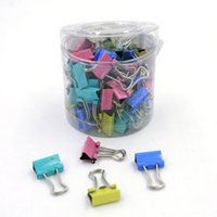 Wholesale 15mm Colorful Metal Binder Clips Notes Letter Paper Clip Office Supplies Color Random Office Binding Products