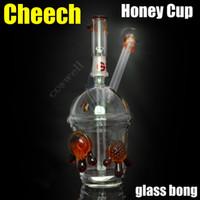 nouvel élément Cheech miel tasse verre bong huile deux conduites d'eau tortue truque bongs meuleuse tabac tuyau barboteur cendrier briquets coupe-vent