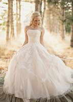 beads center - 2016 Trendy Ball Gown Wedding Dresses with Appliques Picked up Strapress Beads Corset Wedding Gowns Center Novias Custom Cheap Bridal Dress