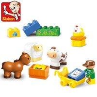 animal farmer - SLuban M38 b6016 Building Farmer Blocks Happy Farm Horse Animal Games Assembled Building Blocks