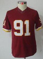 Football Men Short Wholesale #91 Red Top Teams Jersey Football Jerseys 2014 New Cheap Football Kits Football Wear Mix Order Cheap Outdoor