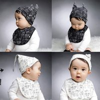 Wholesale New Baby KIds Hat Cap Water Resistance Towel Saliva Lunch Bibs Cotton Scarf