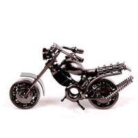 Wholesale 151202 New best selling Christmas gifts wrought iron crafts iron motorcycle model craft ideas