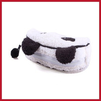 affordable cosmetics - Affordable bottomprice Cute Soft Plush Panda Pencil Pen Card Case Cosmetic Notebook Makeup Bag Pouch High Quality Bottom price