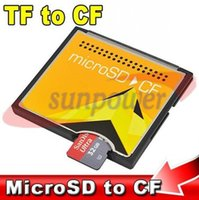 Wholesale 5pcs High Speed TF to CF Card Adapter MicroSD SDHC Micro SD to Converter for All Secure Digital High Capacity