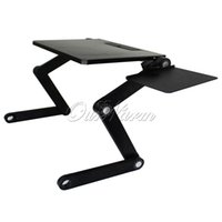 Wholesale Newest Degree Adjustable T3 Aluminum PC Notebook Laptop Folding Desk Stand Table Tray with Mouse Pad Bed Sofa Office