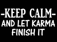 bar mirrors personalized - Car Stickers Keep Calm Karma Funny Decal Sticker Car Truck Suv Laptop Wall Beer Bar Salt