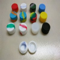 Wholesale 200 x FDA approved small round Silicone Container Jars Dab For Concentrate Oil Wax ml Dry Herbal Oil Slick Container