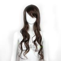 sexy wig - New Sexy Fashion Womens Girls Light Brown Wavy Curly Long Hair Human Full Wigs NMFFM