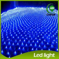 2015 Net voyant LED clignotent en Net série légère Waterproof lampe lampes 8 * 10 mètres grand Net lumière LED Strings mariage lumières de Noël