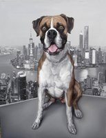 area canvas - 20 quot X24 quot Personalized Handmade Oil paintings Lovely Pet Partners Dog Original Sweet Home Large Area Art Decorative Wall Canvas