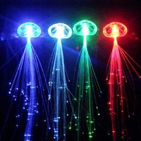 Wholesale Multi color Blinking LED Light up Flash Fiber Optic Hair Braid Extension Brand New Good Quality Hot Sales