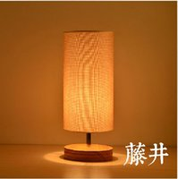bamboo table base - Fabric Shade And Base Wood Modern Restaurant Table LightsSimple Wooden Desk Lighting Table Lamp Lights Decoration