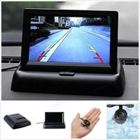Wholesale 4 Inch Car Rear View Monitor Waterproof TVL mm Lens Reverse car Parking Camera CMO_50Q