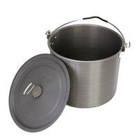 Wholesale Outdoor Cooking Pot Portable Camping Pot Picnic Hiking Cookware Soup Bowl Pot Pan with Storage Bag