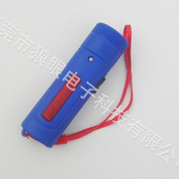 Wholesale led lights small flashlight paper money money detector light mini plastic rechargeable flashlight factory