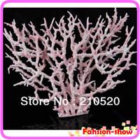 artificial coral reef aquarium - Drop Shipping PC Pink Fish Tank Faux Artificial Aquarium Reef Coral Decoration Ornaments New