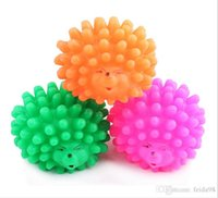 balls chew toys - Mini Hedgehog Shape Pet Dog Puppy Squeaky Chew Toy Squeaker Ball Funny Toys Random Color JIA143