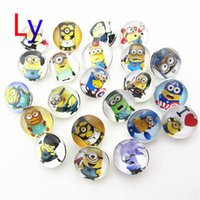 acrylic and glass beads - NOOSA Snap Buttons Minions and Snopy Mix Stochastic Alloy Styles Noosa Buttons DIY Jewelry Glass Chunks Snap Button AC022