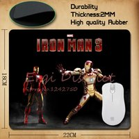 iron man mouse pad achat en gros de-Gros-Marvel Clash The Incredible Hulk Spiderman Captain America Iron Man Durable Soft Pad Mouse for Optical / Trackball Souris