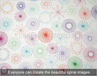Wholesale Spiral Art Tool Spirograph Ruler Great Funny Gift Creative Drawing Set ruler DHL Fedex