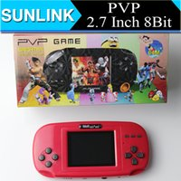 Wholesale PVP inch Bit Game Player Handheld TV Out Video Game Console game players for Children Kids Gift Toys